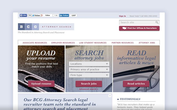 BCG Attorney Search on Employment Research Institute
