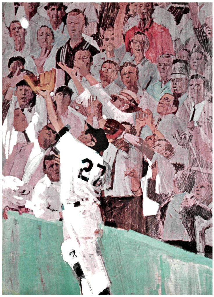 "Bernie Fuchs story illustration ""When It's 3 and 2,"" Sports Illustrated, 1964."
