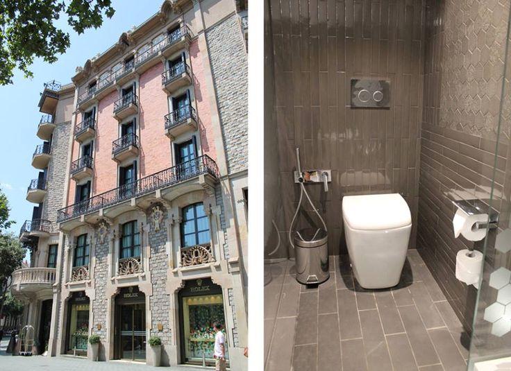 El #MonumentHotel de #Barcelona ahorra #agua con #cisternasempotradas #Geberit y pulsadores Sigma20 en los #baños.