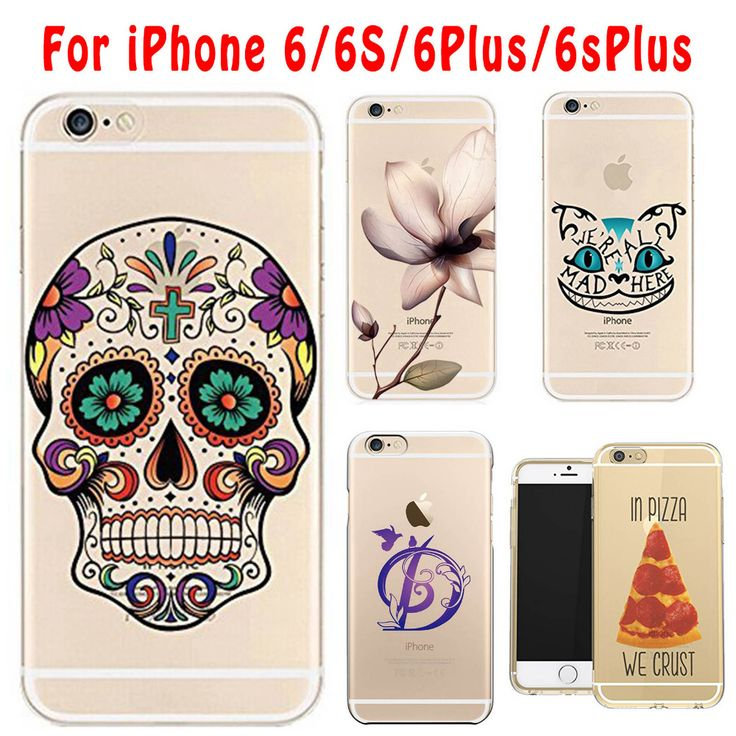 For Apple iPhone 6 6S 4.7'Inch Phone Bag Colorful Skull Pink Pineapple Mobile Phone Bag Cute Soft Silicon Clear Thin Case Cover #clothing,#shoes,#jewelry,#women,#men,#hats,#watches,#belts,#fashion,#style