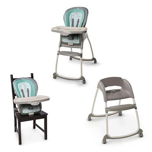 The Trio 3-in-1 Deluxe High Chair™ from Ingenuity™ is three great seats in one! This amazing high chair provides three different seating modes to grow with baby from infant to toddler: a full-size high chair, a booster seat, and a toddler chair. This is one chair that will grow with your family.