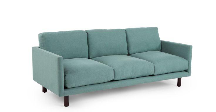 Carey 3 Seater Sofa, Turquoise Linen