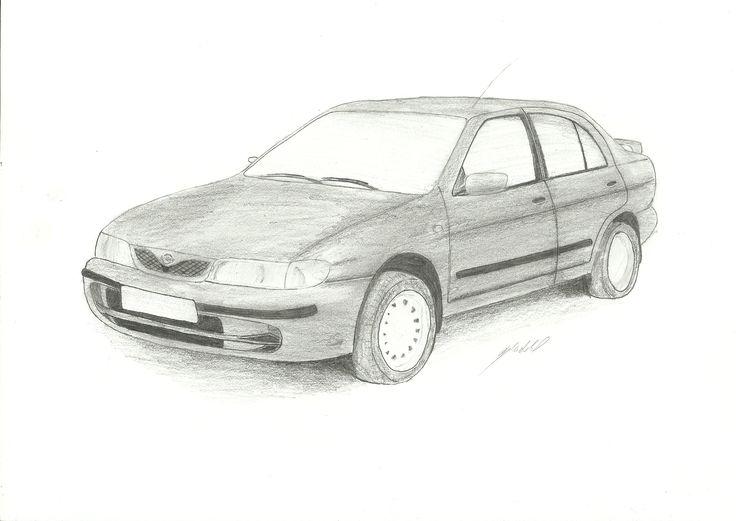 Pencil drawing : Nissan Almera