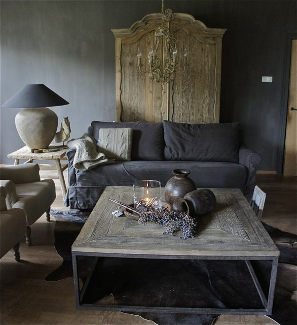 grey rustic interior