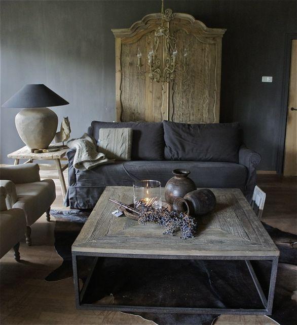 grey rustic interior