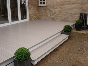 Fensys manufacture premium UPVC plastic low maintenance decking for luxurious outdoor spaces.