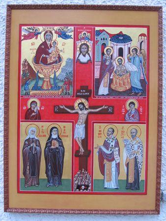 Icona quadripartita delle Romite Ambrosiane. www.mirabileydio.it(2007)