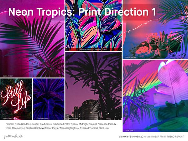 Vision 1–5: Collection – Spring/Summer 2018 – 5 X Print Trend Report Bundle | Patternbank