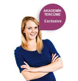 Kendisini özel hissetmek isteyenler için hazırlanmış olan Exclusive Akademik tercüme paketimiz ile bu alanda sunulmakta olan en kaliteli Akademik tercüme hizmetini almanız mümkündür.