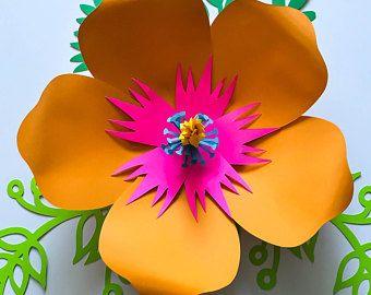 PDF Paper Flower Template DIGITAL Version - Original Design by Annie Rose #101