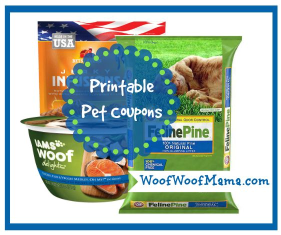 Find and print pet coupons for food, litter, treats and more