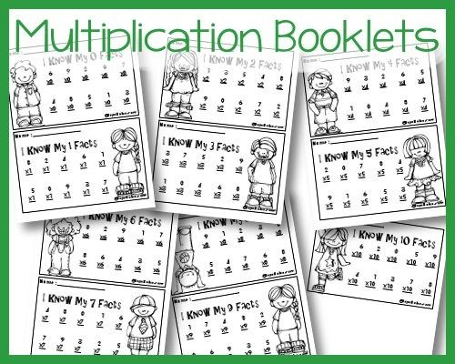 Free printable multiplication booklets