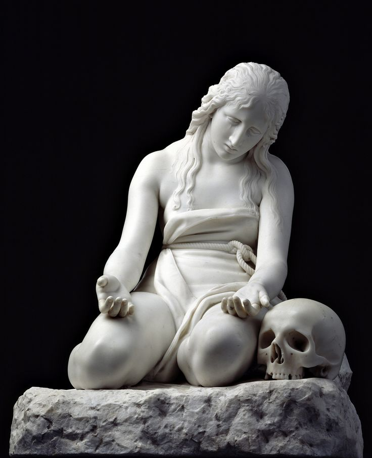 In Memoriam Antonio Canova (1757-10/13 1822), Italian sculptor from the Republic of Venice who became famous for his marble sculptures that delicately rendered nude flesh: Maddalena - Canova. I saw the original marble at the Palazzo Doria-Tursi, Génova in 2001