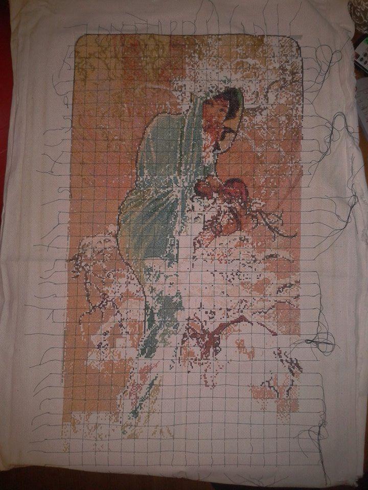 Alphonse Mucha Winter already 18 months of work. sooo long :'(