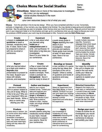 Differentiation in Social Studies