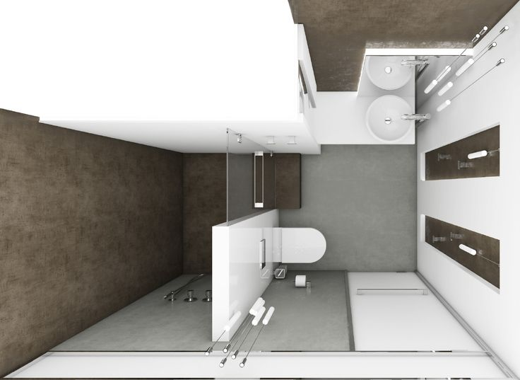 Luxusní koupelna LIGHT BOX - Půdorys koupelny