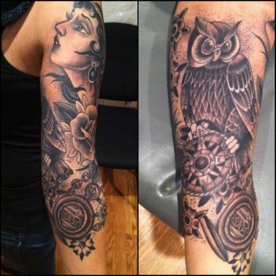 Owl Sleeve Tattoo: 42 Best Images About Tattoo Ideas On Pinterest