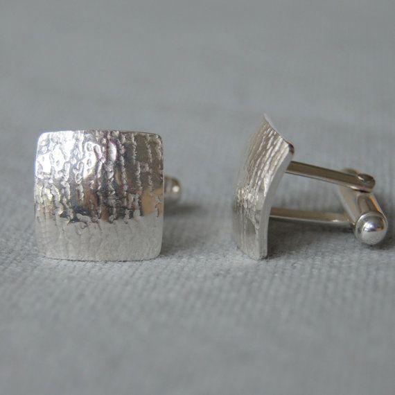 Bark Sterling Silver Cufflinks Nature Lover Wild by eanjewellery #btnetsy #brighton #handmade