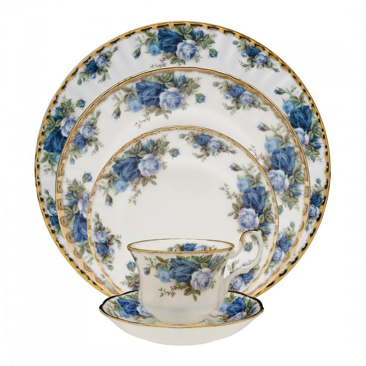 By Royal Albert Moonlight Rose 5-Piece Place Setting
