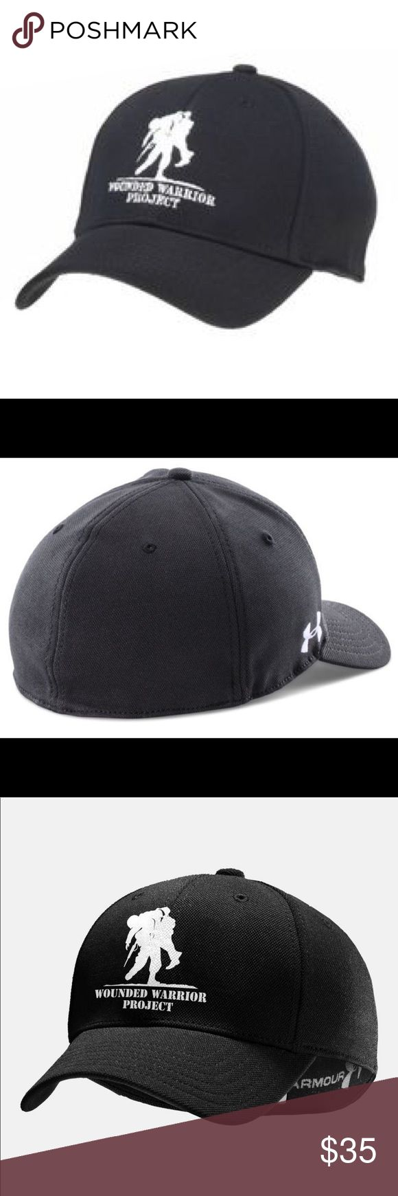 Under Armour wounded warrior project UA cap hat This hat is an Official Wounded Warrior Project Licensed product Wounded Warrior Project™ will receive 10% of the net sale of this product through December 31st, 2014 from Under Armour to benefit injured service members and their families Ideal for outdoor sports, this men's ball cap has a structured stretch fit that delivers enhanced comfort and stability Built-in, internal HeatGear® sweatband keeps you cool and dry Large WWP logo on front of…