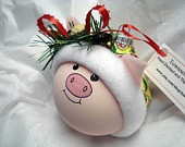 piggy christmas ornament