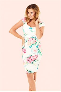Elsa Floral Square Neck Ruched Bodycon Dress from Jessica Wright and Sistaglam Occasion Wear and Wedding Collection £65.00