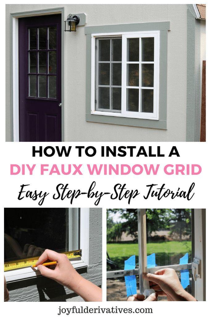 How To Install A Window Grid A Diy Tutorial Dream Home Diy