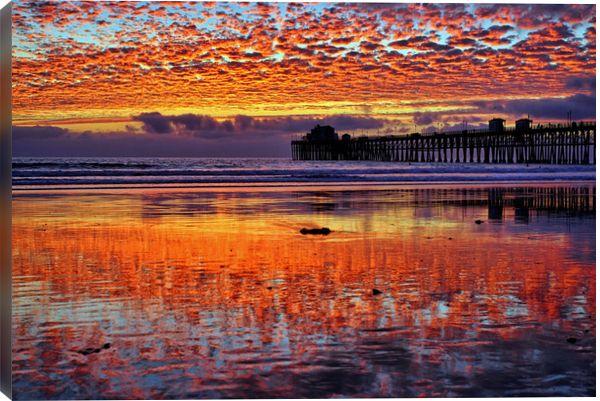 500px Искусство / Огненный закат в Морское побережье - 18 декабря 2013 Ричем Круз