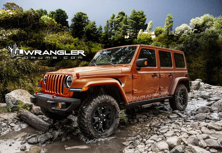 New Jeep Wrangler Images - 2018 Jeep Wrangler Rendered