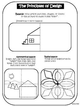 Principles Of Design Balance Worksheet In