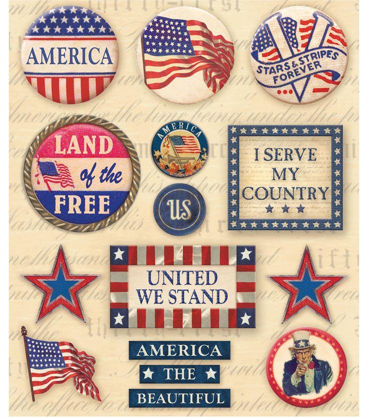 Sticker Medley-Patriotic Words