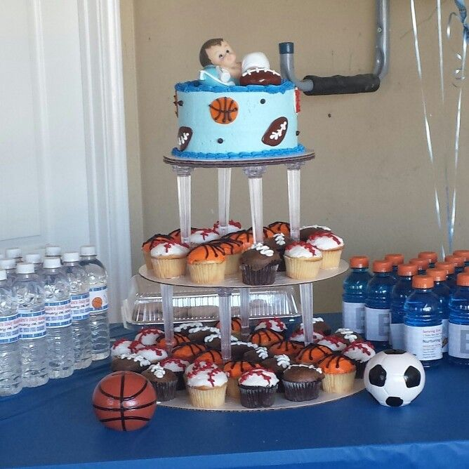 sports themed baby shower boy on pinterest themed baby showers