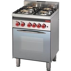 Cocina a gas de 4 fuegos y horno con grill 60/60CFG línea 600 Gastro M