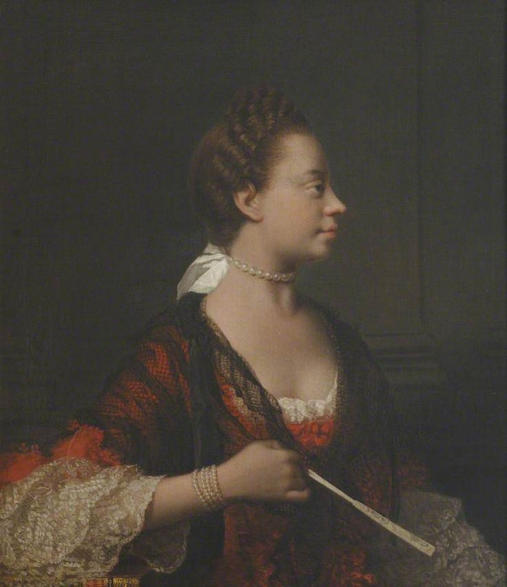"Portrait of Queen Charlotte Sophia by Sir Allan Ramsay, ca.1770. Artists of that period were expected to play down or even obliterate ""undesirable features"" in a subject's face. Ramsay's paintings of the Queen were the most African of all her portraits. He was an anti-slavery intellectual. His wife's uncle, was the English judge who started the process to end slavery in the British Empire. Also, Ramsay was uncle, by marriage, to Dido Elizabeth Lindsay, who was half black.:"