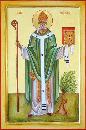 Icône de Saint Augustin d'Hippone