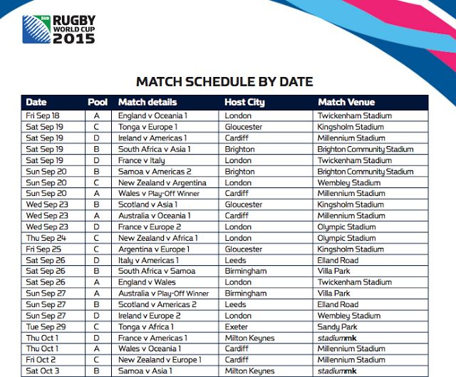 #Rugby #world #cup #fixtures