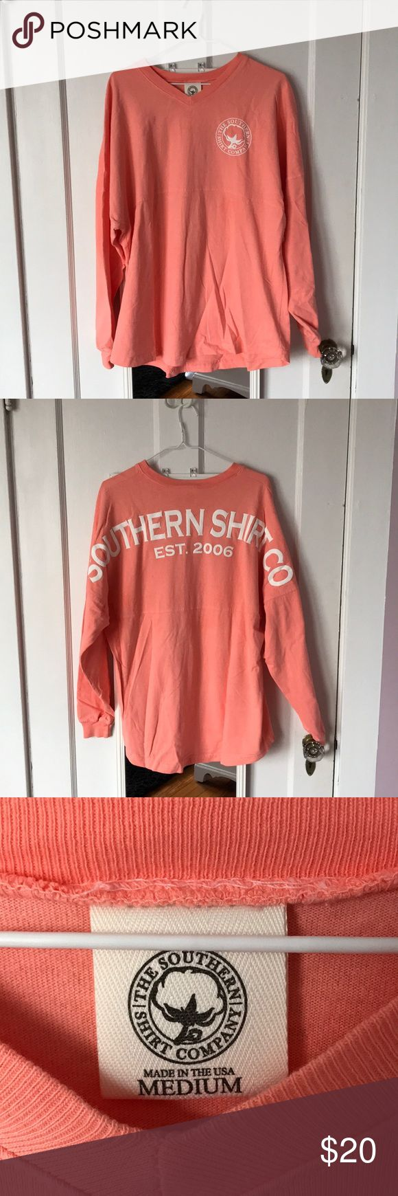 The Southern Shirt Company Jersey Pullover Peach Medium The Southern Shirt Company Jersey Pullover, great condition!! The Southern Shirt Company Tops Tees - Long Sleeve