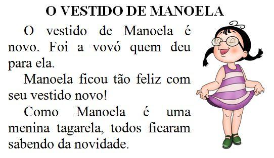 Texto O vestido de Manoela
