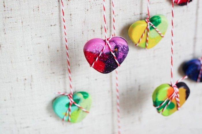 DIY Crayon Heart Valentines-