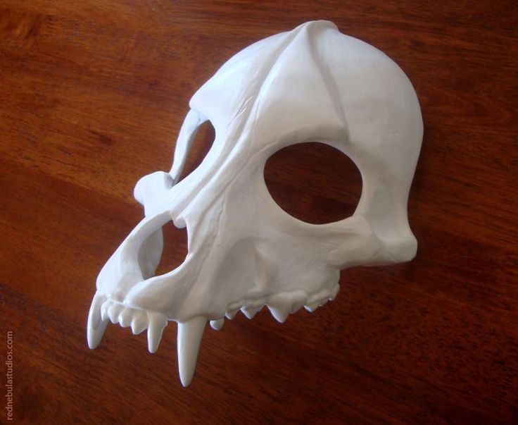 A blank resin casting of the wolf skull mask.