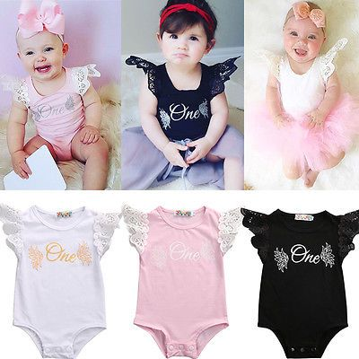 >> Click to Buy << 3 color!! Newborn Infant Baby Girls Lace Floral Fly Sleeve CottonBodysuit Jumpsuit Sunsuit Outfits #Affiliate