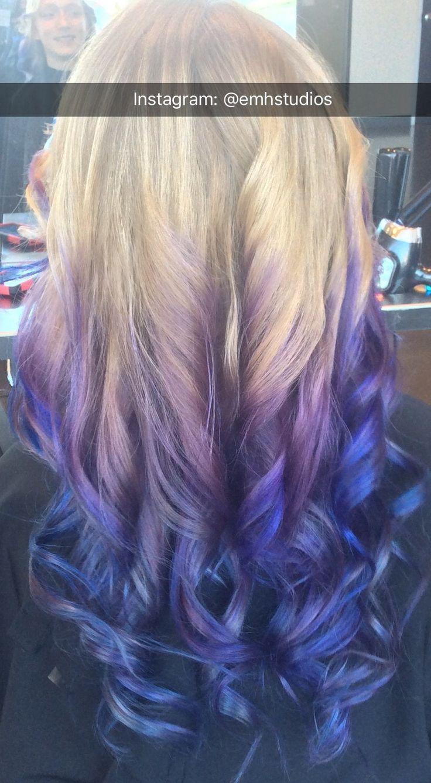 purple blue balyage