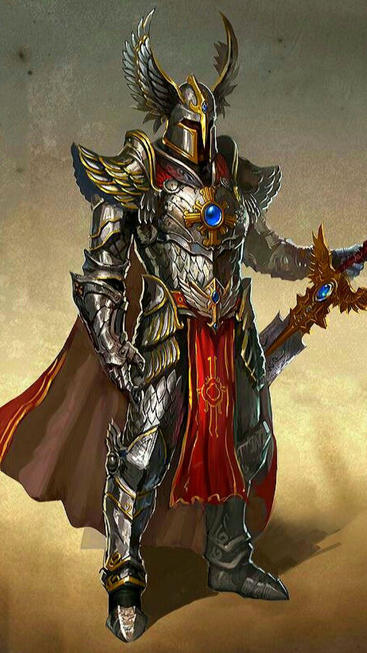 m Paladin Plate Armor Helm Cloak Greatsword hilvl | Armor concept, Knight armor, Medieval fantasy