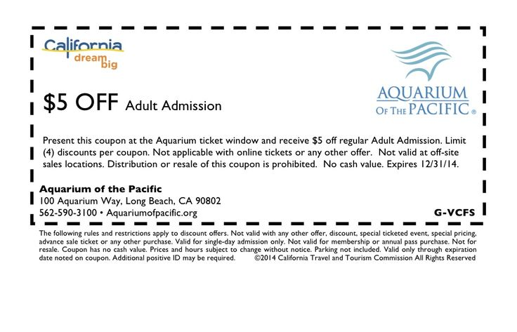 photograph relating to Aquarium of the Pacific Coupons Printable identified as Lower price coupon aquarium of the pacific / The place in the direction of get