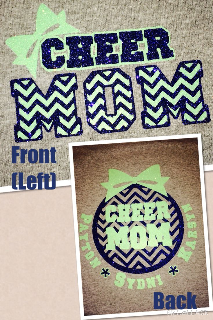 Custom Cheer Mom Shirt - use heat transfer materials and a heat press to create yours!