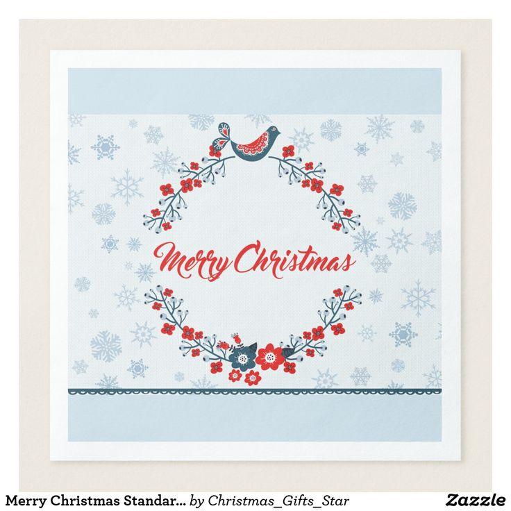 Merry Christmas Standard Dinner Paper Napkins