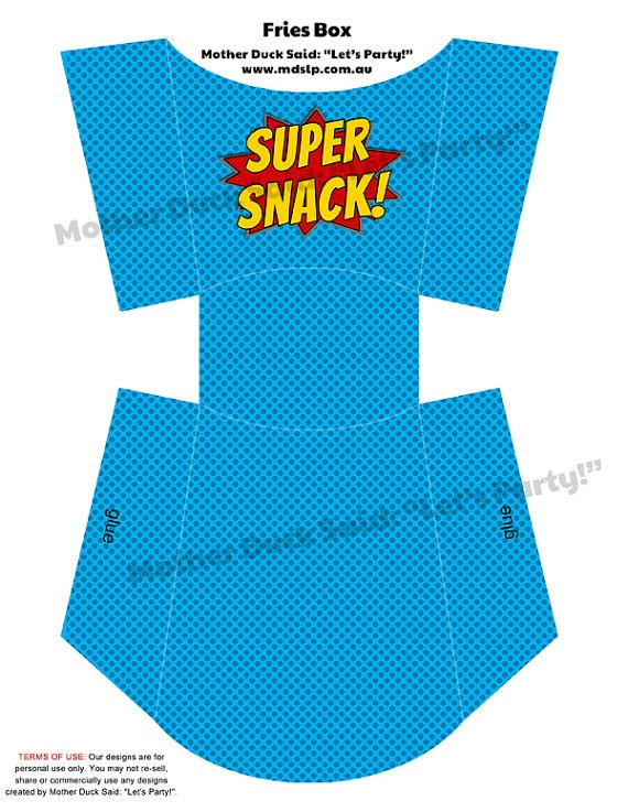 Superhero Party (super snack)