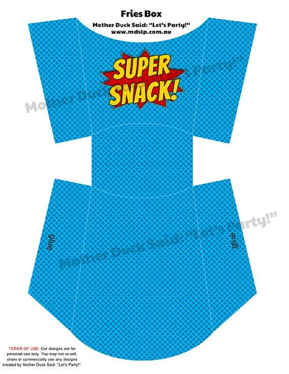 Superhero Party (super snack)