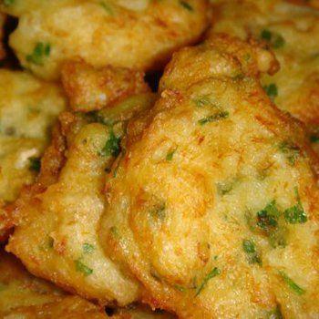 Pataniscas de bacalhau. Tortillitas de bacalao