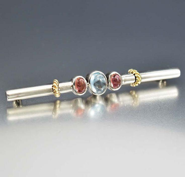 Vintage Sterling 14K Gold Garnet Gemstone Brooch  #Sterling #14K #intage #Brooch #Garnet #Vintage #Gold #Cherry #Amber #Mens